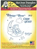Sleepy Bear Crib Quilt Aunt Martha's Hot Iron Embroidery Transfer