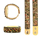 Vju Snap Closure Sport Replacement Watch Band for Amazon Halo, Fashion Retro Yellow Suede Leather...