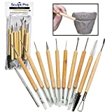 Sculpt Pro Pottery Tool Kit - 11-Piece 21-Tool Beginner's Clay Sculpting Set - Great Gift