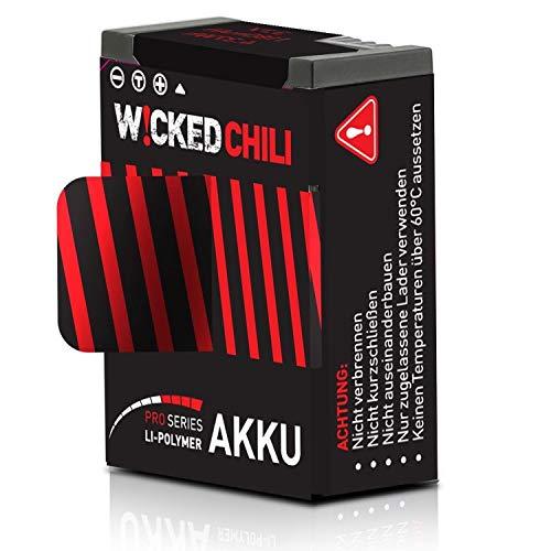 Wicked Chili 1180 mA Batteria Compatibile con GoPro Hero 3+ / 3 (Serie PRO, 3,7 V / 4,37 W / 1,18A, Tempo di Registrazione Fino a 118 Minuti, sostituisce AHDBT-302 / AHDBT-301)