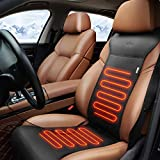 KINGLETING Heated Seat Cushion with Intelligent Temperature Controller.(12Volt,Black)