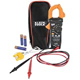 Klein Tools CL390 Digital Clamp Meter, Reverse Contrast Display, Auto Ranging 400 AMP AC/DC, AC/DC Voltage,TRMS, DC Microamps, Temp, More