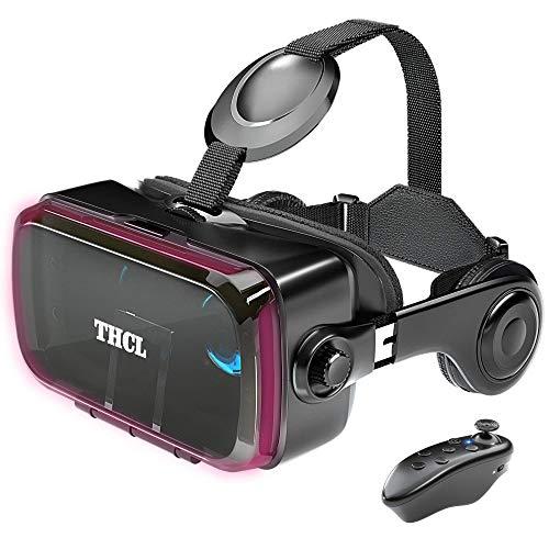 3D VRゴーグル VRヘッドセット 着信拒否&ヘッドホン搭載 3D VRメガネ iPhone android対応 受話可能 4.7~6....