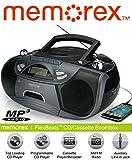 Memorex MP3262 FlexBeats CD/Cassette Boombox - Black (Refurbished)