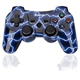 PS3 Controller Wireless - OUBANG Best PS3 Remote Sixaxis Control Gamepad for Playstation 3 (Spark Blue)