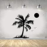 wZUN Pegatinas de Pared de árbol de Coco de Moda decoración de Sala de Estar decoración del hogar calcomanías de Pared decoración de habitación 42X46 cm