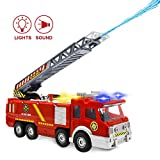 Camion de pompier jouet avec tir à l'eau et sons et lumières - Modèle...