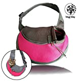 VaygWay Pet Dog Sling Carrier – Breathable Mesh Traveling Pet Carrier – Cat Dog Bag Carrier Sling – Small Dog Pet Carrier Cats