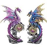 Nemesis Now Realm Protectors Lot de 2 figurines Violet 15cm