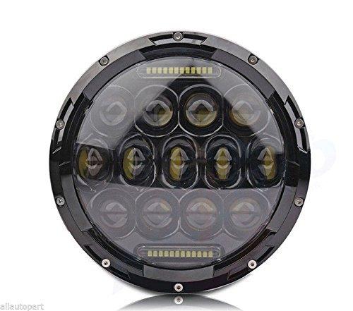 SunTime 7 Zoll 75 Watt Runde Daymaker LED Projektor Motorrad Scheinwerfer Wasserdichte Birne für Harley Davidson Jeep Wrangler Schwarz