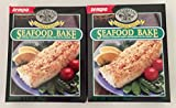New England Style Lemon Dill Seafood Bake Crispy Topping Mix (Pack of 2) 3.5 oz Boxes