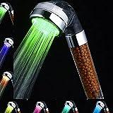 Amison 7 Pommeau de douche à LED pour économie d'eau - Changement de couleur -...
