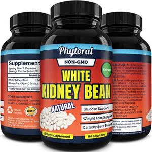 White Kidney Bean Supplement Pills Pure Extract Starch Carb Blocker Weight Loss Formula - Lose Belly Fat Suppress Appetite Boost Metabolism Natural Weight Loss for Men and Women by Phytoral 9 - My Weight Loss Today