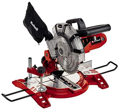 Einhell Scie à onglet radiale TC-MS 2112 (1600 W, Largeur de coupe maximale : 120 mm, Table pivotante, Tête de scie inclinable, Sac à poussière et blocage de sécurité)
