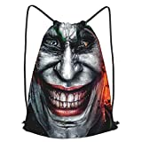 ZVEZVI Bolsa de Gimnasio de Moda para Parejas, The Joker Bolsas con cordón Ajustable Mochila Mochila Ligera para Entrenamiento, Yoga, Viajes, Compras