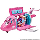 Barbie Dreamplane Transforming Playset with Reclining Seats and Working Overhead Compartments, Plus...