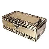 DGYAXIN Metal Caja joyero Organizador Clásico Joya Decorativas Antigua Gran Capacidad, Exquisitamente Tallado, Nudo de Bloqueo Exquisito, para Anillos, Pendientes, Collares, Pulseras
