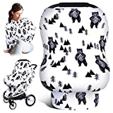 Car Seat Covers for Babies, Baby Carseat Canopy, Newborn Nursing Cover for Breastfeeding, Stretchy...