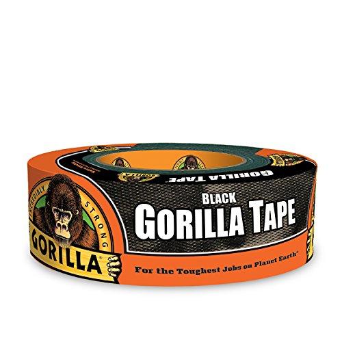 Gorilla Tape, Black Duct Tape, 1.88' x 35 yd, BNegro, (Paquete de 1)