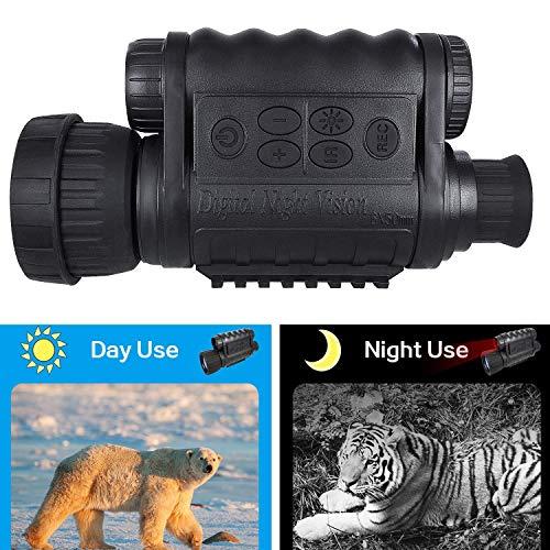 Bestguarder Visor monocular Digital de visión Nocturna 6x50mm Cámara infrarroja de Alta definición de 5mp Foto 720p Video hasta 350m/1150ft Distancia de detección con TFT LCD de 1.5 Pulgadas 4