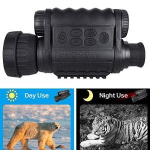 Bestguarder Visor monocular Digital de visión Nocturna 6x50mm Cámara infrarroja de Alta definición de 5mp Foto 720p Video hasta 350m/1150ft Distancia de detección con TFT LCD de 1.5 Pulgadas 2