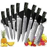 UniqueFire Set de Couteaux de Cuisine, Couteau de Chef, Couteau...