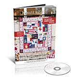 """Kimberbell Featured Quilt Red, White & Bloom Machine Embroidery Design CD, Completed Size: 40x40"""", 4 Projects, Step-By-Step Instructions For Beginners to Advanced, Hoop Sizes: 5x7"""", 6x10"""", 8x12"""" KD809"""