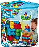 Mega Bloks Sac Bleu, jeu de blocs de construction, 60 pièces, jouet pour...