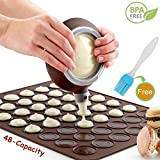 Nifogo Macaron Molde, 48 Capacidad Macaron Silicone Baking Mat, Decorating...