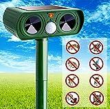 Lizardo Store Motion Activated Sprinkler | Squirrel Repellent Outdoor | Motion Sensor Light Outdoor | Solar Animal Repeller Ultrasonic Repellent - Outdoor Solar Powered, Motion Sensor, Flashing Light