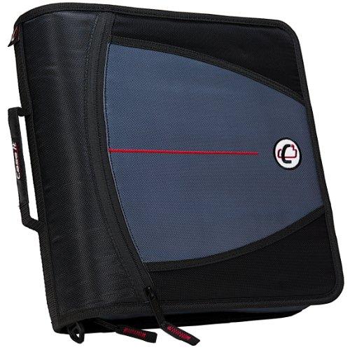 Case-it Mighty Zip Tab 3-Inch Zipper Binder, Black,...