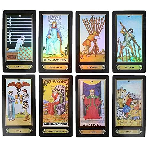 Tarot Cards, Rider Waite Tarot Cards, 78 Holographic Tarot...