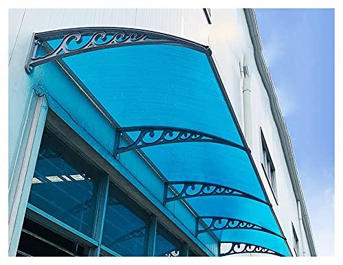 marquesina puerta exterior, Lluvia pabellón de la puerta del pabellón toldo recto de la puerta principal del pabellón for la ventana al aire libre Porche Shade Patio Tejado Cubierta de protección UV
