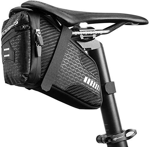 ROCKBROS Bike Saddle Bag Seat Bag Bike Bag Under Seat 1.5L Bicycle Bag Cycling Accessories Storage Pouch Bike Wedge Pack for Mountain Road Bike