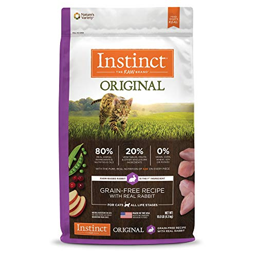Instinct Original Grain Free Recipe with Real Rabbit Natural Dry Cat Food by Nature's Variety, 10 lb. Bag