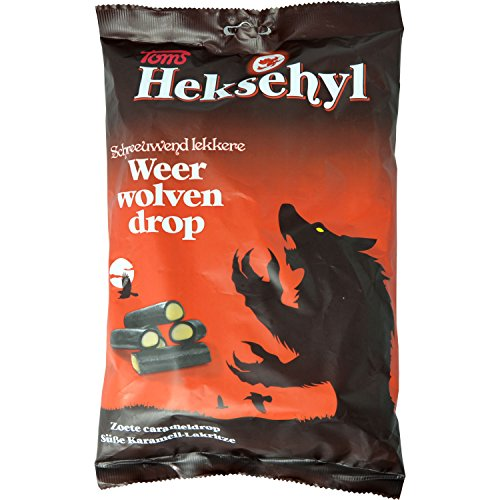 Toms Heksehyl Weer Wolfen Drop (weiche Lakritz-Stäbchen mit Karamell-Füllung ) 1000 g