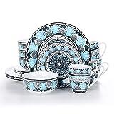 VEWEET, série Audrie, Service de Table Complet en Porcelaine, 16...