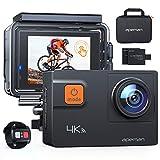 APEMAN Action Cam A87, Touch Screen 4K/60FPS 20MP WiFi Telecomando Impermeabile 40M 8XZoom Fotocamera Subacquea, Gyro Stabilizzazione Correzione della...
