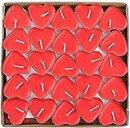 Candele Rosse a Forma di Cuore Romantiche Piccole Profumate No Fumo per Eventi Matrimoni Anniversari Cerimonie Feste Fidanzamento e Decorazioni (Confezione da 50)