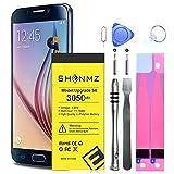 Galaxy S6 Battery Replacement Kit, 3050mAh SHENMZ Internal Li-Polymer Replacement EB-BG920ABE Battery for Samsung Galaxy S6 G920V G920A G920T G920P with Tool Kit [12 Month Warranty]
