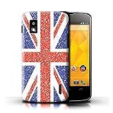 Stuff4 Coque pour LG Nexus 4/E960 Effet Motif Paillettes Union Jack...