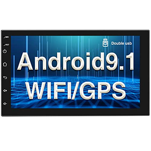 Android 9.1 Autoradio GPS Bluetooth CAMECHO Double Din 7 Pouces écran Tactile Complet WiFi FM Radio Mirror Link pour téléphones iOS/Android 2 Din Lecteur Stéréo de Voiture