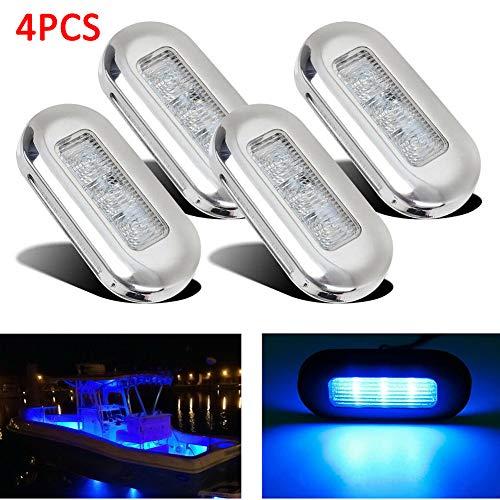 Kinjohi Tops - Luci di cortesia a LED oblunghe per yacht, barca, scala, terrazza, giardino, luce a...