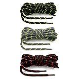 Vicsport Lot de 3 paires de lacets ronds pour chaussures de randonnée 120...