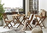 SAM Gartentisch Jasper klappbarer Holztisch mit Schirmloch, Akazienholz massiv - 4