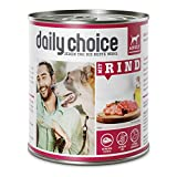 daily choice | 12 x 800 g | Nassfutter für Hunde | getreidefrei | Mit Rind | 70% Frischfleisch- und Innereienanteil Optimale Verträglichkeit