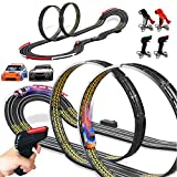Cusocue High-Speed Electric Powered Super Loop Speedway Slot Car Track Set with Two Cars for Dual Racing, Boys Toys for 6 7 8 9 10-16 Years Old Kids Best Gifts