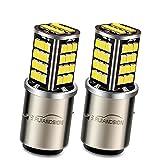 Ruiandsion 2pcs BA20D ampoule de phare à LED DC 12V 2835 56SMD jeu de...
