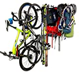 StoreYourBoard Adventure Wall Storage Rack, Holds Bikes Skis Camping Hiking, and Climbing Gear, Home and Garage Storage System