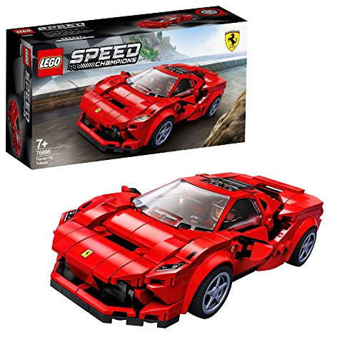 LEGO 76895 Speed Champions Ferrari F8 Tributo Racer Toy with Racing Driver Minifigure, Race Cars Building Sets